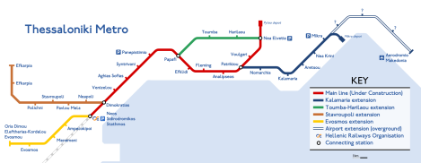 Проект схемы Салоникского метрополитена